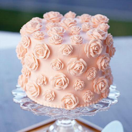 Cake Decorating Rose Design : Just Peachy Rose Cake Wilton