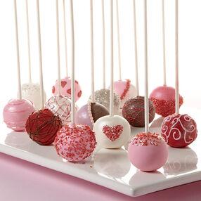 Valentine's Day Cake Ball Pops