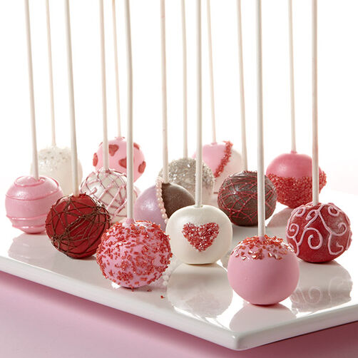 Decorating Cake Pops Easy : Valentine s Day Cake Ball Pops Wilton