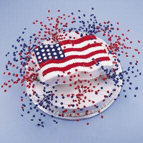 Fireworks For The Fourth Cake