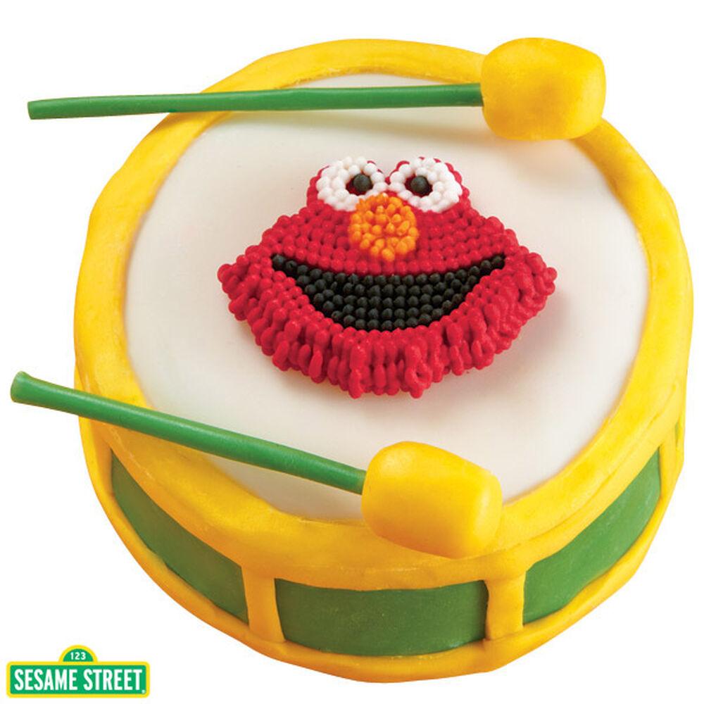 Elmo Cake Pan Decorating Instructions : Elmo s Drum Roll! Mini-Cake Wilton