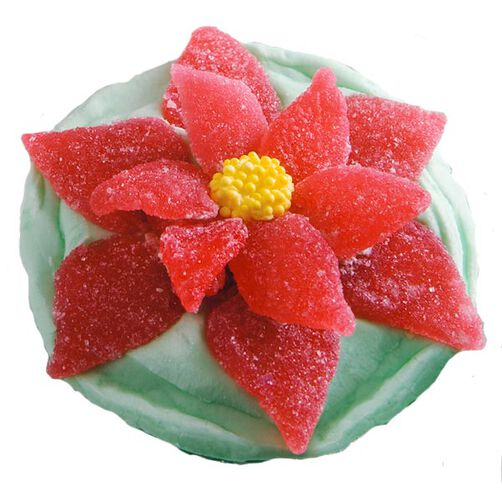 Holiday's First Flowers Cupcake