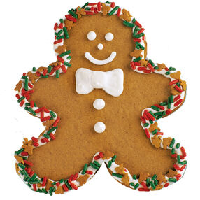 Decked Out Gingerbread Boy Cookie