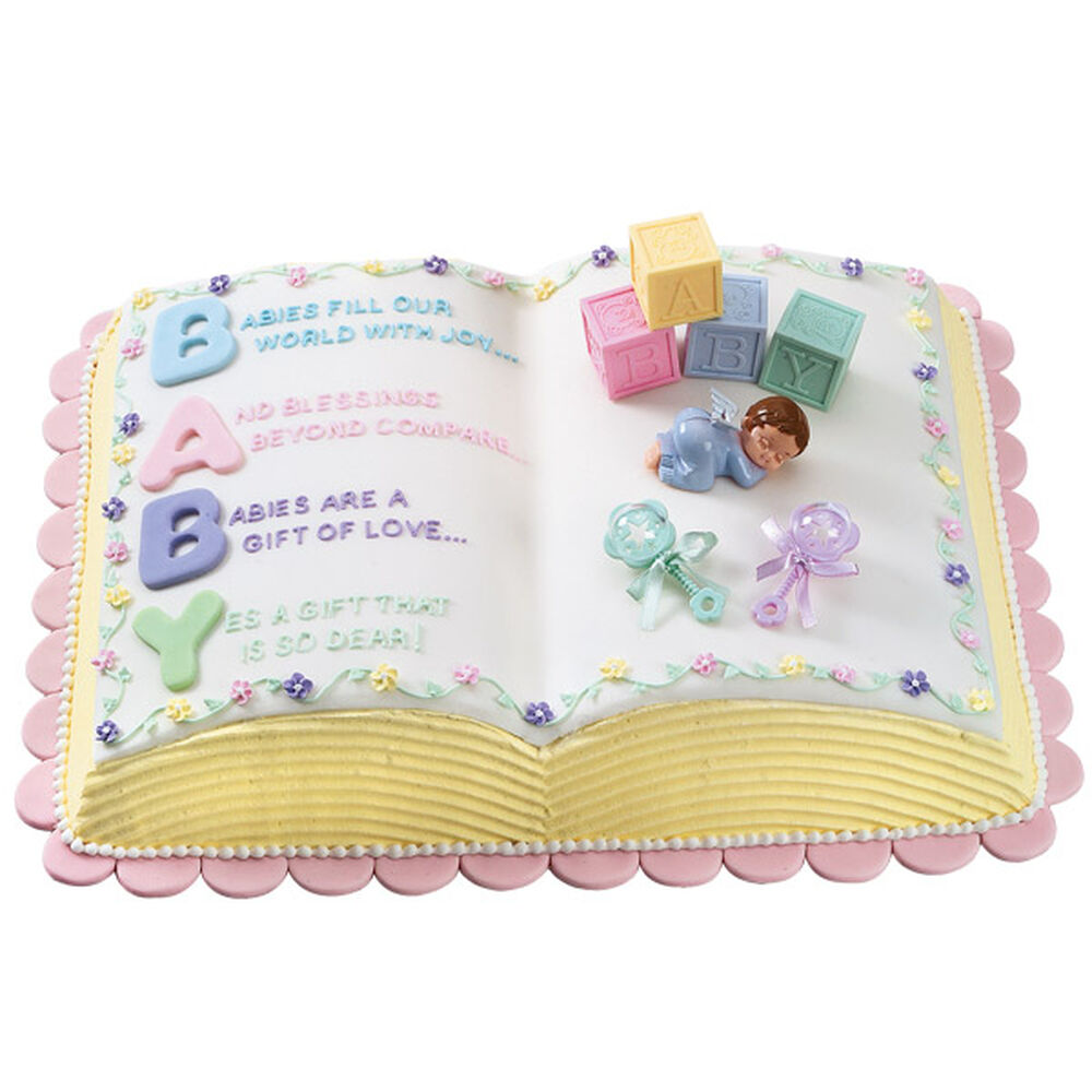 Letter perfect baby shower cake wilton - Wilton baby shower cake toppers ...