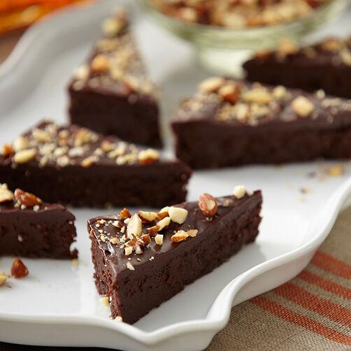 Amaretto Flourless Chocolate Bars