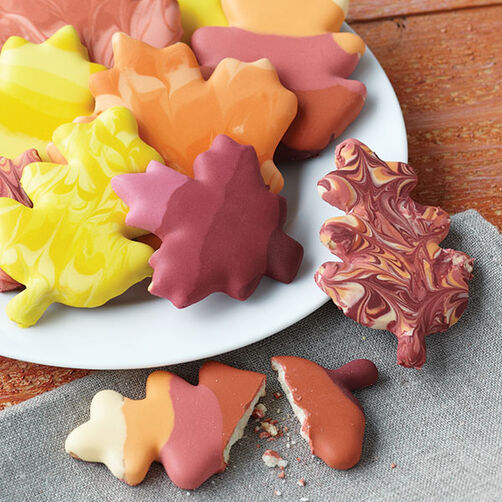 Swirling Leaves Fall Cookies