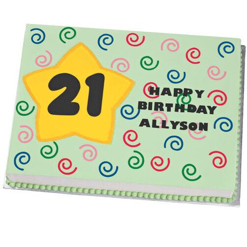 21 Star Salute Birthday Cake