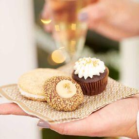 Chocolate and Irish Cream Thumbprint Cookies