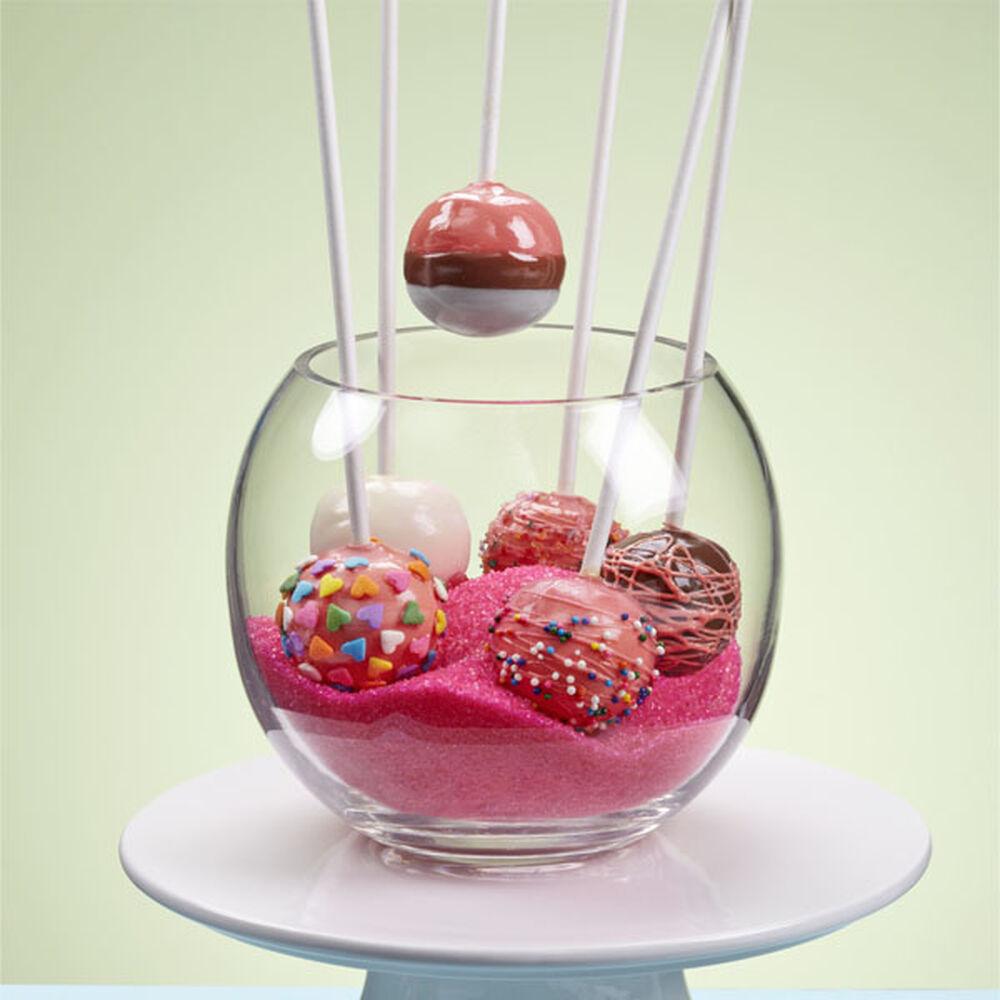 Raspberry Sherbet Cake Pops Wilton