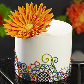 Statement Flower Halloween Cake