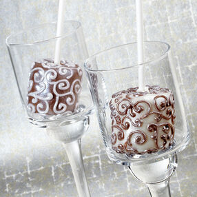 Sophisticated Scrolls Candy-Dipped Marshmallow Pops