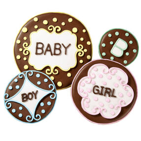 Boy or Girl Baby Shower Cookies