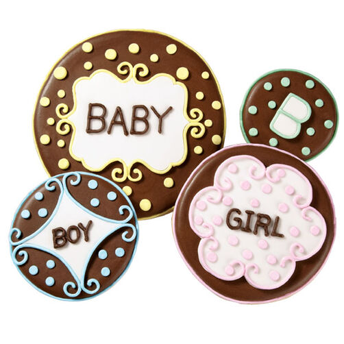 Boy or Girl Baby Shower Cookies