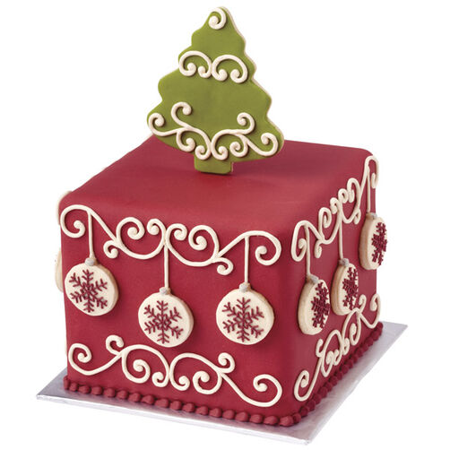 Decked Out for the Holidays Christmas Cake Wilton