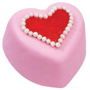 Pink Heart Mini Cakes
