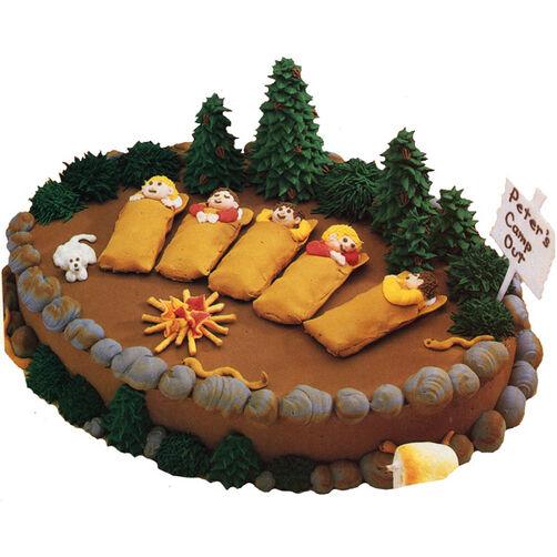 Camp Birthday Fun Cake
