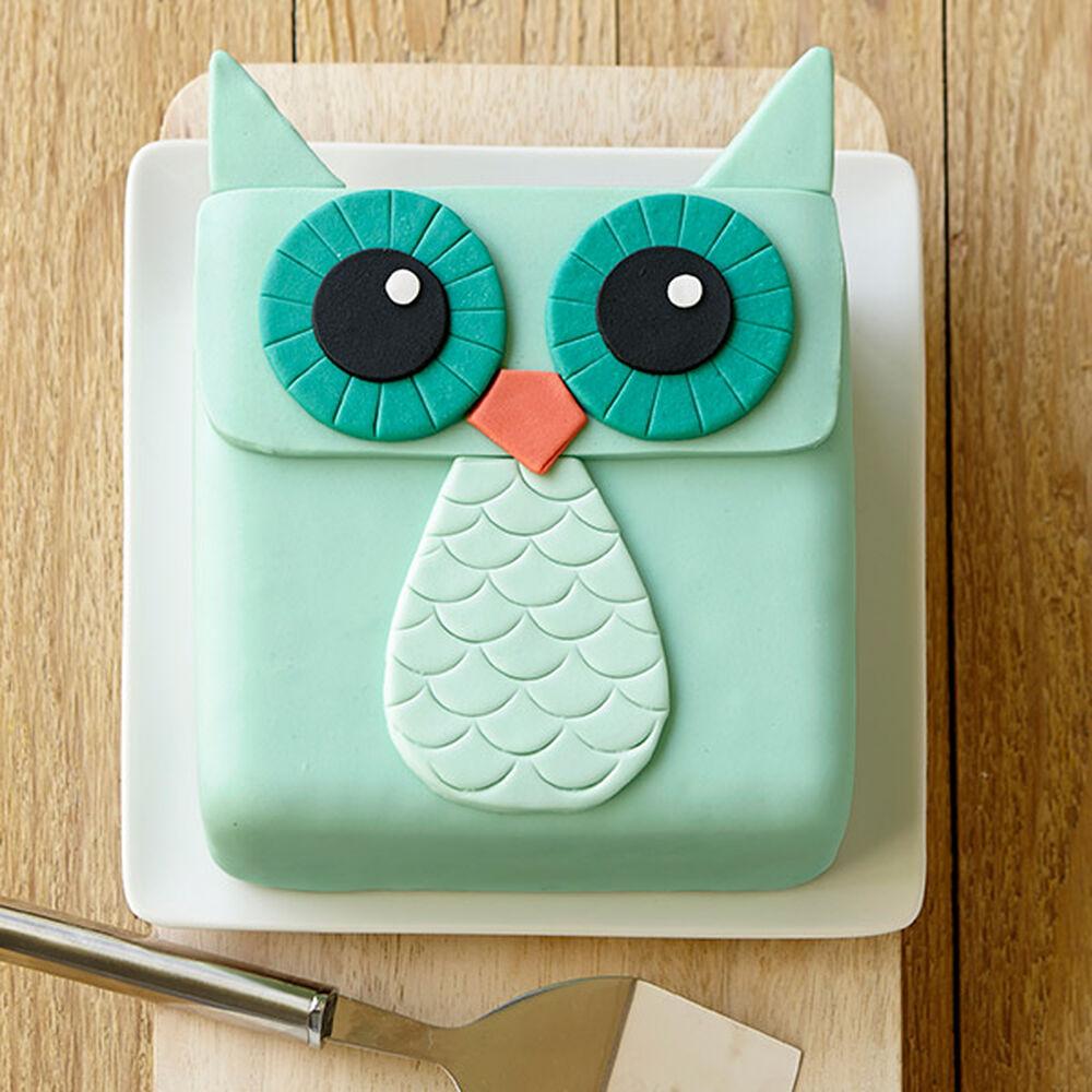 WideEyed Owl Cake  Wilton ~ 061510_Cake Decorating Ideas Owls