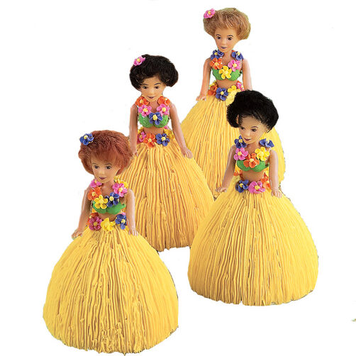 Hula Dancers Mini Doll Cakes