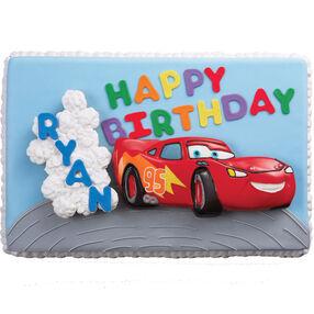 Cars! Birthday Rally Cake & Cupcakes