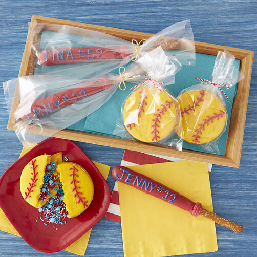 Baseball Bat Chocolate Covered Pretzels