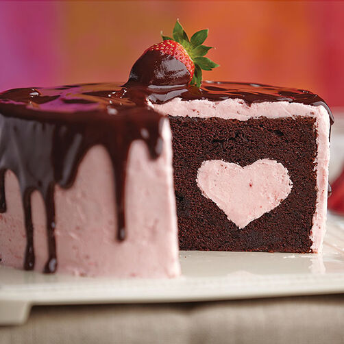 Chocolate Dipped Strawberry Cake