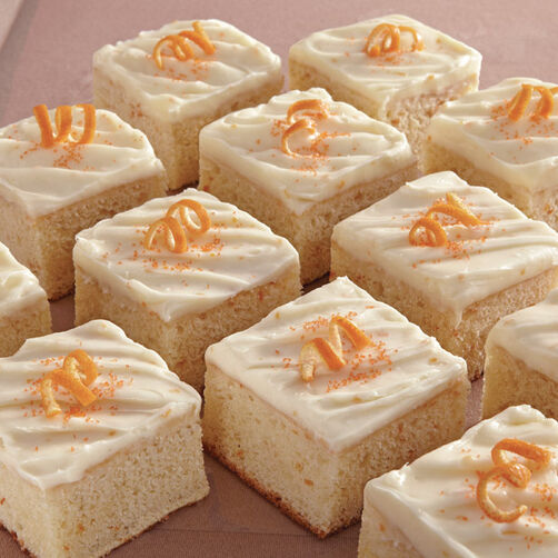 Orange Sheet Cake with Orange Cream Cheese Icing