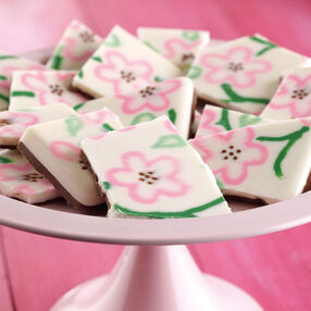 Cherry Blossom Pattern Candy Bark