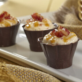 Salted Caramel Bacon Cordial Cups