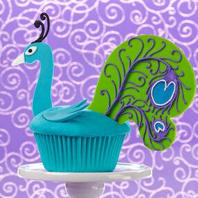 Plumaged Peacock Cupcake
