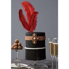 Feathers and Fringe Roaring '20s Cake