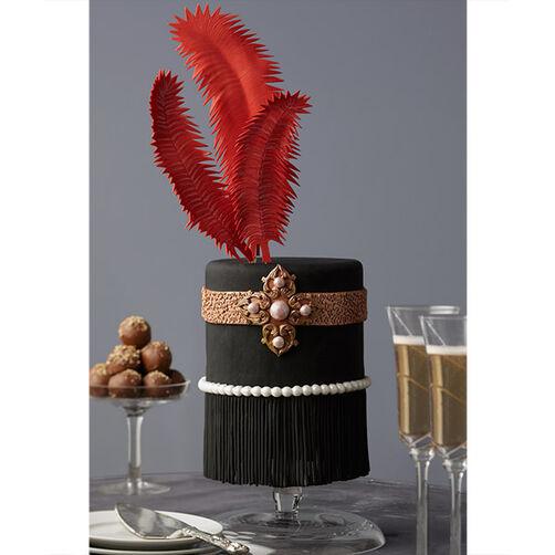Feathers and Fringe Roaring '20s Cake