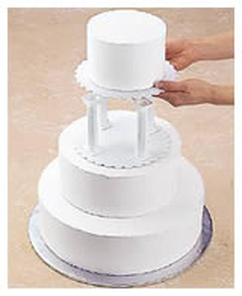 Pillar And Stacked Cake Construction Wilton