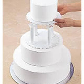 Wilton Pillar and Stacked Cake Construction
