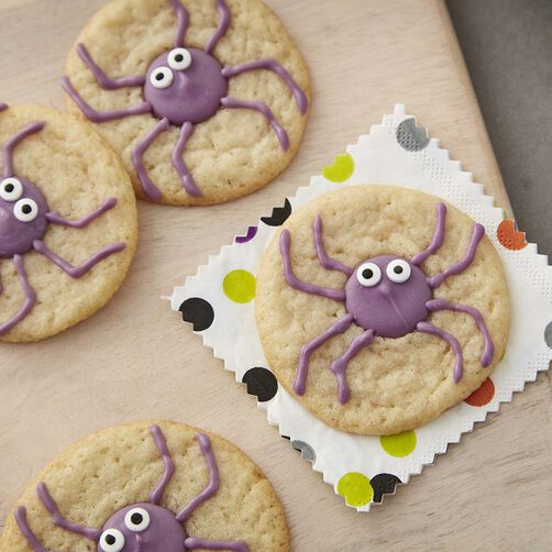 Spider Eyes Halloween Sugar Cookies