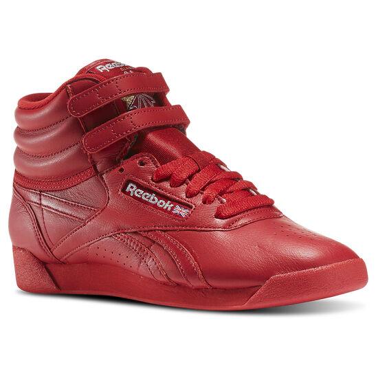 Reebok - Freestyle Hi Og Lux Excellent Red/Grey/Gold BD4469