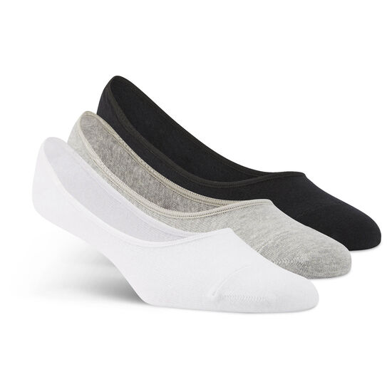 Reebok - Sports Essential Unisex Invisible Sock - 3pack Mgreyh/White/Black AY6265