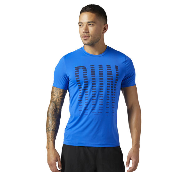 Reebok - Men's Reebok ONE Series ACTIVCHILL Short Sleeve Tee Vitblu CF2246