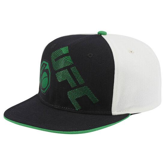 Reebok - UFC Ultimate Fan Flat Brim Snapback Hat Black/White/Green BM3138