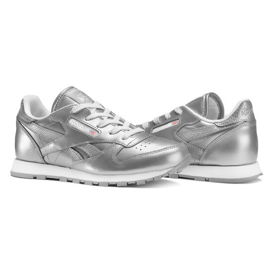 Reebok - Classic Leather Metallic Silver/White BS7459