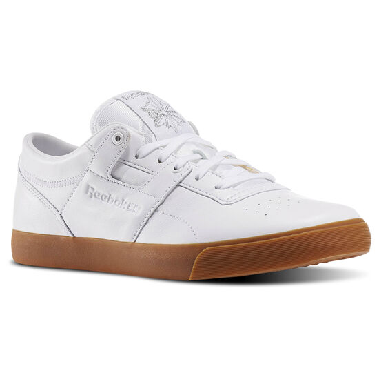 Reebok - Workout Lo Clean FVS Gum White/Silver Metallic-Gum BD4764