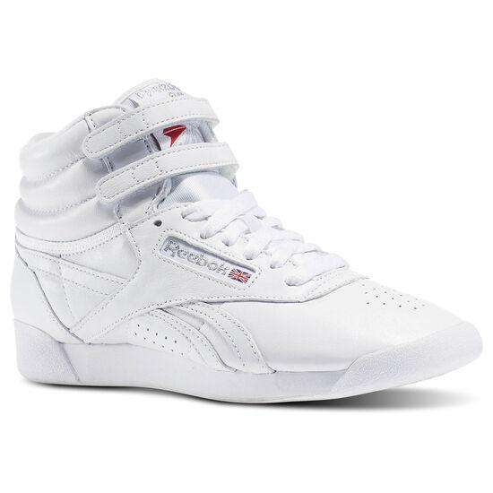 Reebok - Freestyle Hi Og Lux White/Grey/Gold/Excellent Red BD4468