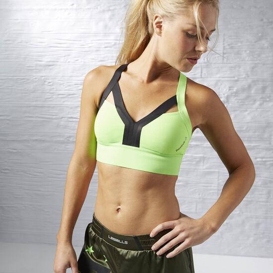 Reebok - Top deportivo de Training Cardio Solar Green AJ1110