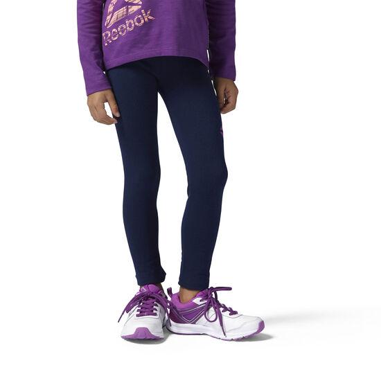 Reebok - Girls Essentials Leggings Collegiate Navy/Vicious Violet BS1347