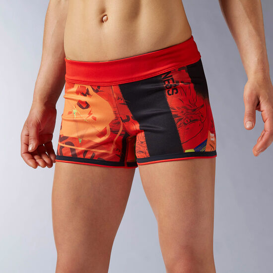 Reebok - Reebok CrossFit Chase Reversible Primed Bootie Short Riot Red AP9221