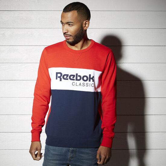 Reebok - T-shirt col rond Reebok Archive Stripe Primal Red BK3831