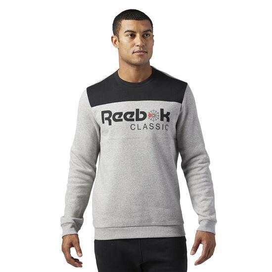 Reebok - Reebok Classics Iconic crew neck Sweatshirt Medium Grey Heather BQ2649