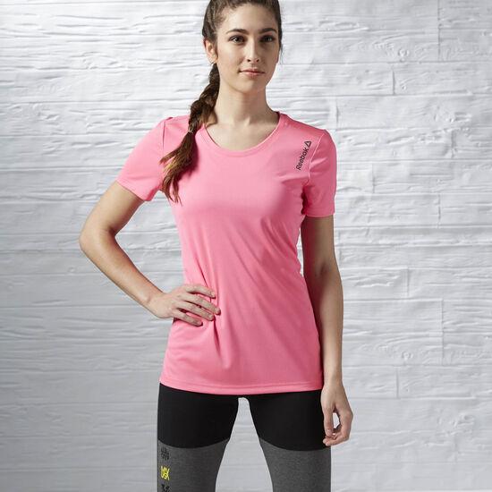 Reebok - T-shirt manches courtes Running Essentials Poison Pink AX9499