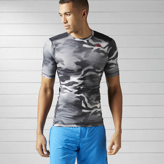 Reebok - ACTIVCHILL Spray Camo Compression Tee Black BK3935