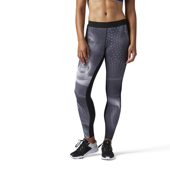 Reebok - Compression Legging - Cymatic Print Black BQ5054