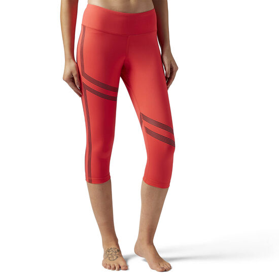 Reebok - Linear 3/4 Legging Glow Red BR8996